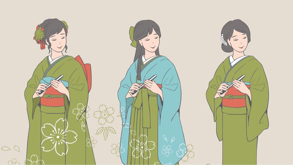 小紋と女袴の着装を通じて学ぶ着物文化